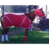 Mantas Presentación C/cubre Cabeza Para Equinos/c. Cod: 3520