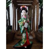 Muñeca Japonesa De Cerámica Geisha