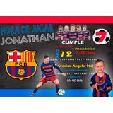 Invitación Para Cumpleaños De Messi Fc Barcelona C/foto
