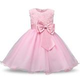 Vestido Bebê Festa 1 Aninho Rosa Luxo
