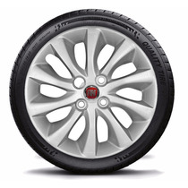Jogo Calota Aro 15 Fiat Punto 2013+ Emblema Fiat (cubo Alto)