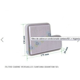 Filtro De Ar Condicionado Santana 92/... - Kit 04 Filtros