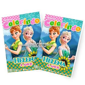 30 Revista Colorir Lembrancinha Frozen Fever Personalizada