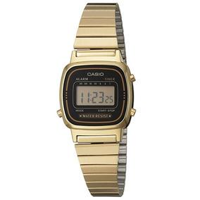 Casio La670wa-1 Reloj Vintage Golden Para Damas Anti Agua