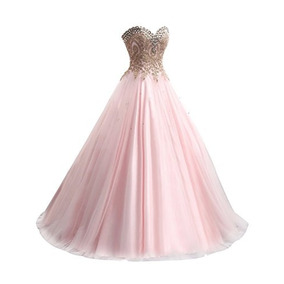 Vestido Debutante Festa 15 Anos 2469 Noivas Promoção Rosa