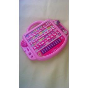 Teclado Barbie Español Ingles Juguete Computadora Musical