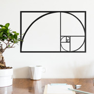 Quadro Decorativo Parede Diversos Proporção Áurea 30cm
