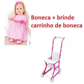 Boneca Fala E Canta + Brinde Carrinho De Bebe Cotiplás