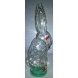 Antigua Caramelera De Vidrio Forma De Conejo