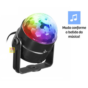Refletor Globo Bola Cristal Led 30w Com Mp3 Strobo Usb