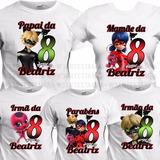 5 Camisetas Miraculous Camisa Ladybug Aniversário Ladybag