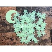 Estrellas Fluorescentes 100 Unids+luna Decoracion Dormitorio