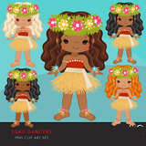 Kit Imprimible Luau Dancer Bailarinas 3 Imagenes Clipart