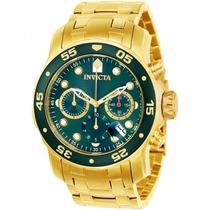 Relógio Invicta Pro Diver 100% Original Banhado A Ouro 18 K
