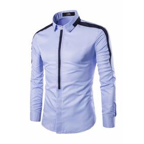 Camisa Slim Fit Lcc68 Sky Marca La Chaqueteria Envio Gratis