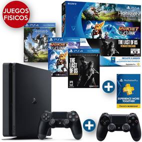 Playstation4 + 3 Juegos Fisicos Hits + Psn Card + 2 Joystick