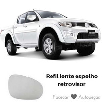 Lente Espelho Retrovisor Mitsubishi L200 Triton Ld Esquerdo