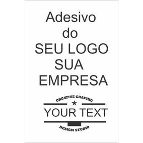 Adesivo Logomarca Logotipo Nome Da Sua Empresa Loja