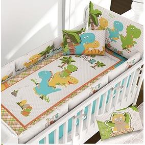 Padrisimo Set De Cuna Bebe . Dinosaurios. Envio Gratis