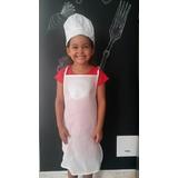 Delantal Y Gorro De Chef En Tela Ecológica Para Niños