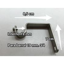 Soporte Para Barral De Hierro 3/4 19mm. Puntera De Barral.