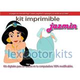 Kit Imprimible Candy Bar Princesa Jazmin Aladin