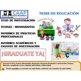 Tesis De Educación Y Docencia Asesorías 1