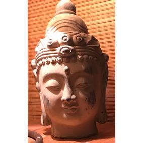 Cabeza De Buda En Terracota. Asia. 30 Cms