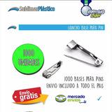 Gancho Para Pin, Base De Prendedor, Metalico X 1000 U.