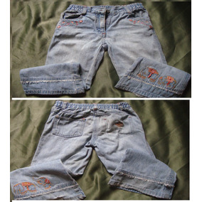Pantalones Jeans Niña Talla 3/4 Falda Y Blusa