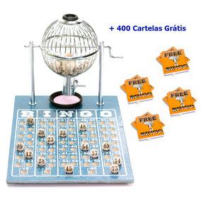 Jogo De Bingo 75 Bolas Pequeno Nº1 Com 400 Cartelas Ic