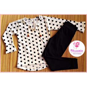 Conjunto Nena Calza + Camiseta Oxford Pack T 2 Al 14