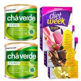2 Chá Solúvel + 3 Diet Week Shake - Maxinutri
