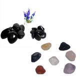 Pedras Basalto Quentes Vulcânicas+7 Pedras Chakras+apostila