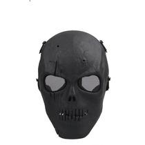 Máscara Airsoft/paintball Full Face Caveira Preto