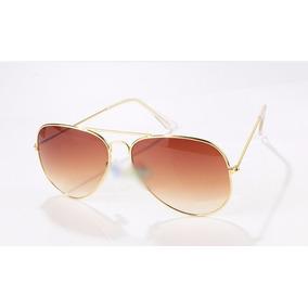 Óculos De Sol Aviador Moda Feminina E Masculina