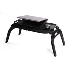 E-table Plus Com Hub Usb Preta Mesa Cooler Para Notebook