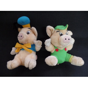 Pelúcia - Os Três Porquinhos - Disney - Contém 2 Unidades