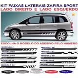 Acessorios Chevrolet Zafira Cd Adesivos Laterais Par Faixas