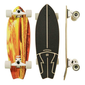 Nitrosk8 Skateboards Orange Waves