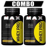 Combo 2x Whey Pro 1kg Max Titanium Whey Concentrado - Barato