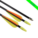 12 X 30 Flechas De Tiro Con Arco Recurvo Arcos Blancos Tiro