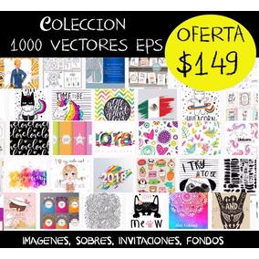 Kit Imprimible 1000 Vectores Imagenes Invitaciones Sobres