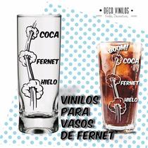 Vinilo Decorativo Para Vasos Fernet Tragos Rosario
