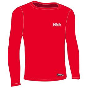 Camisa De Compressão Kappa - Camisa Manga Longa Masculinas Vermelho ... d1954e46b09ff