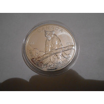 Moneda Canada Serie Animales Puma Nueva Plata Ley 0.999