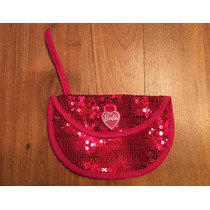 Padrisima Bolsa Clutch Monedero Barbie Rosa Sequins!!
