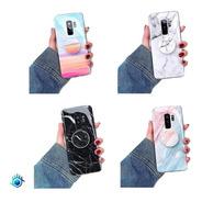 Funda Para Samsung Galaxy Marmol Con Sujetador Pop Dama Hombre Mujer Caballero Case Goma Resistente Brilloso Soporte