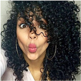 Lady Miranda Afro Kinky Curly Pelucas Naturaleza Color Sint