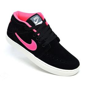 release date: 8652a 3b547 Tênis Feminino Nike Suketo Mid Preto E Rosa